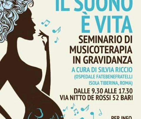 Musicoterapia in gravidanza, seminario a Bari
